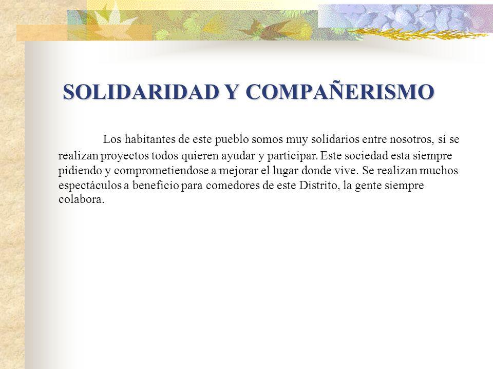 SOLIDARIDAD Y COMPAÑERISMO
