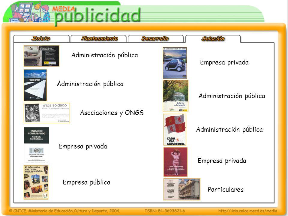 Administración pública Empresa privada