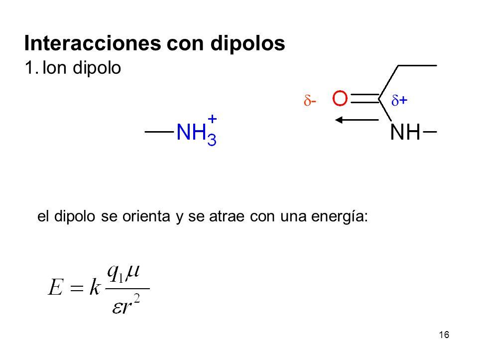 Interacciones con dipolos