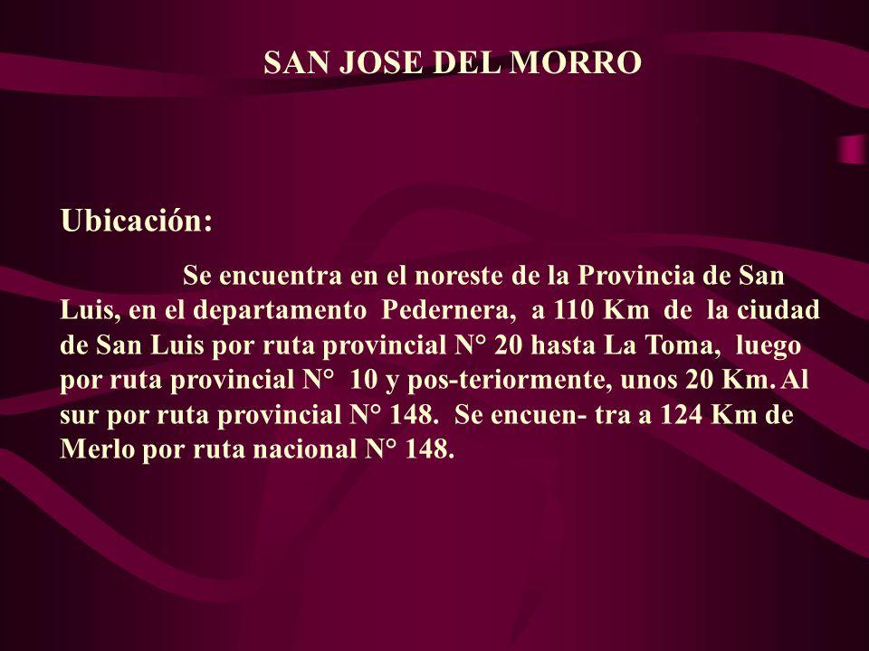 SAN JOSE DEL MORRO Ubicación: