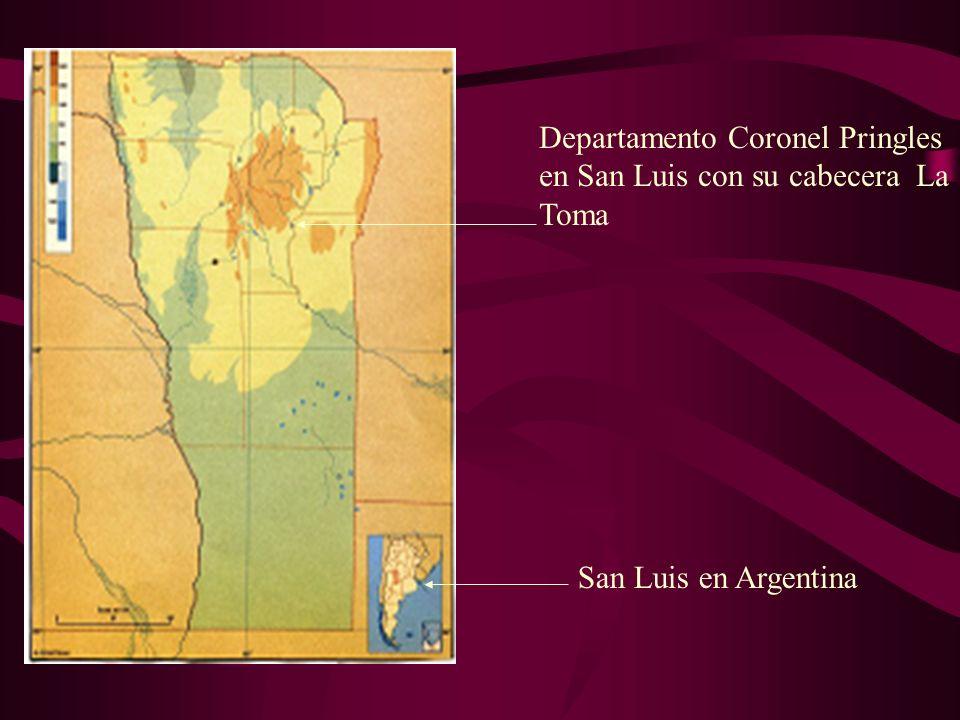 Departamento Coronel Pringles en San Luis con su cabecera La Toma