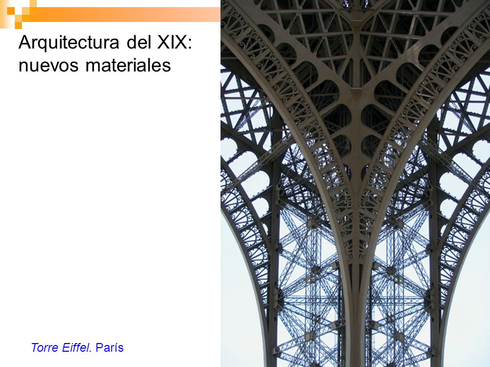 Arquitectura del XIX: nuevos materiales