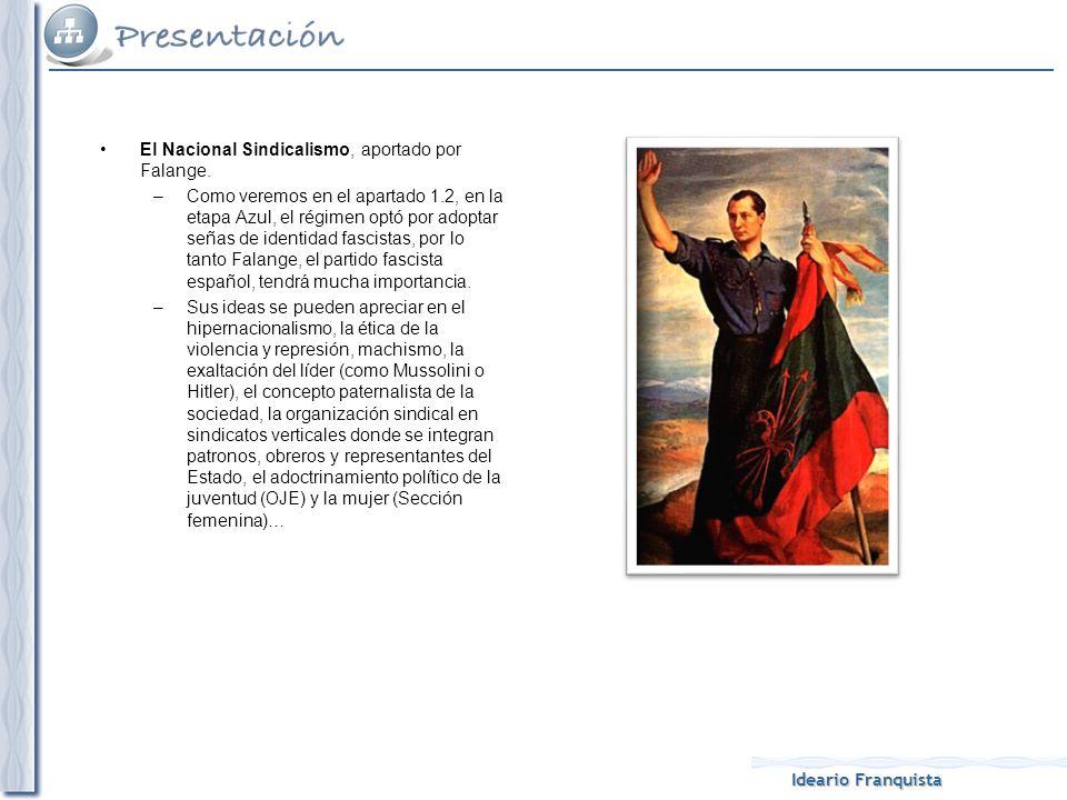 El Nacional Sindicalismo, aportado por Falange.