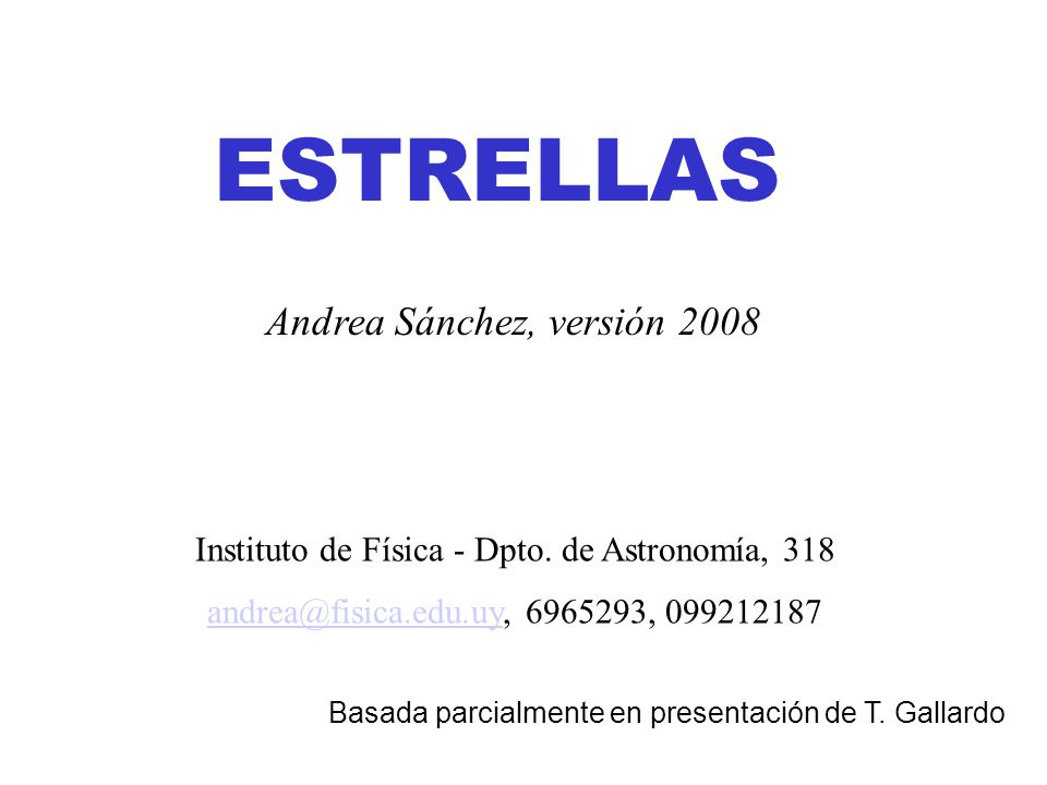 Instituto de Física - Dpto. de Astronomía, 318