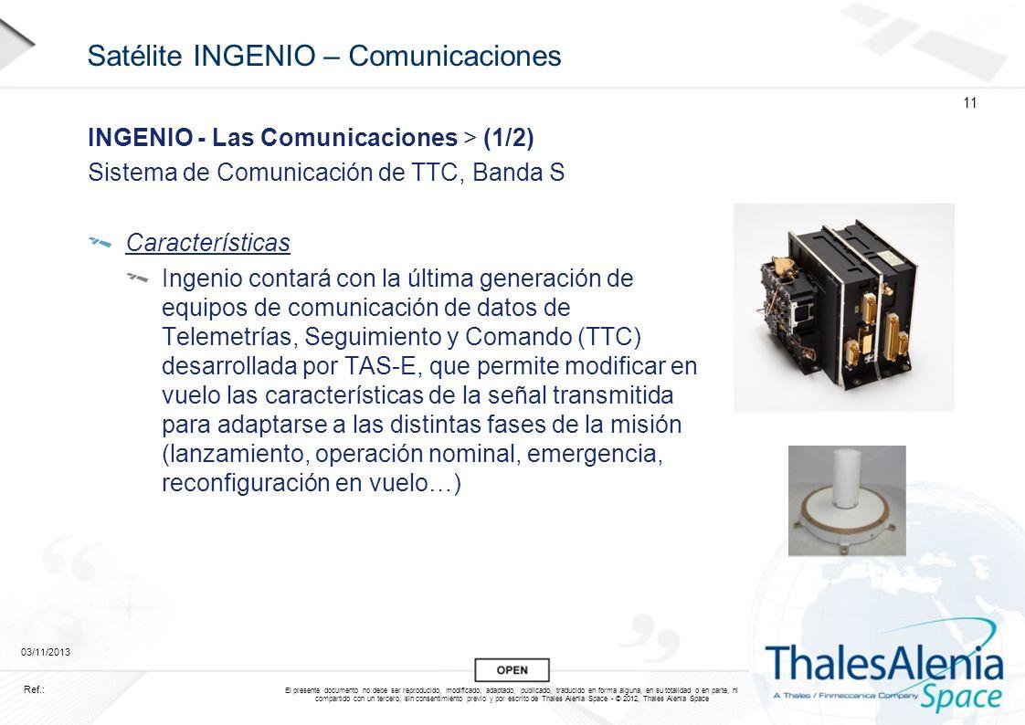 Satélite INGENIO – Comunicaciones