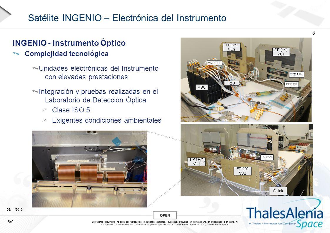 Satélite INGENIO – Electrónica del Instrumento