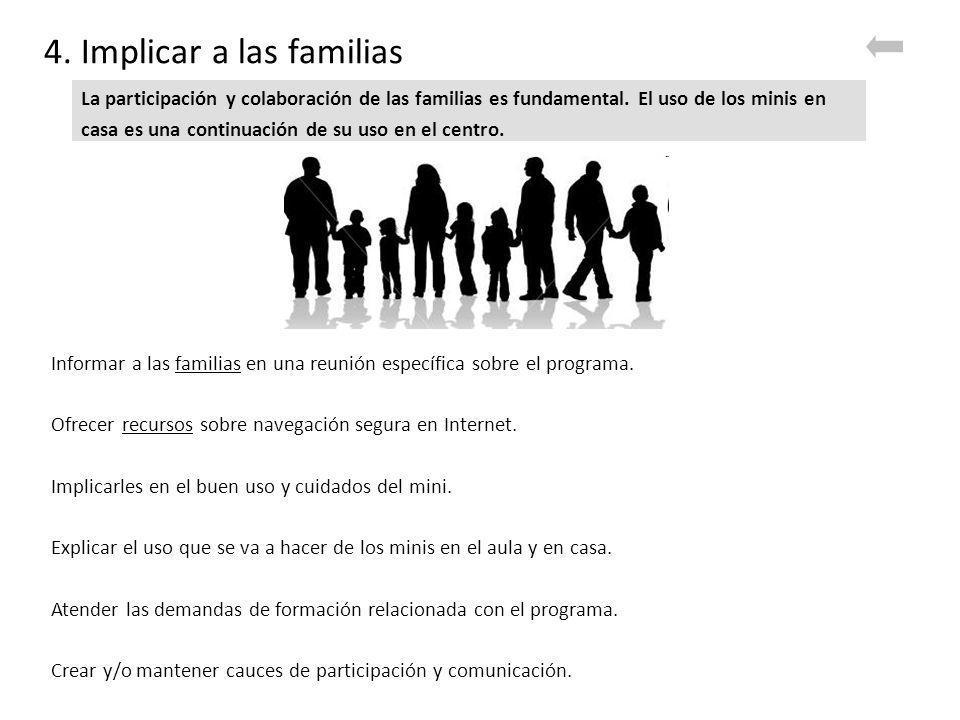 4. Implicar a las familias