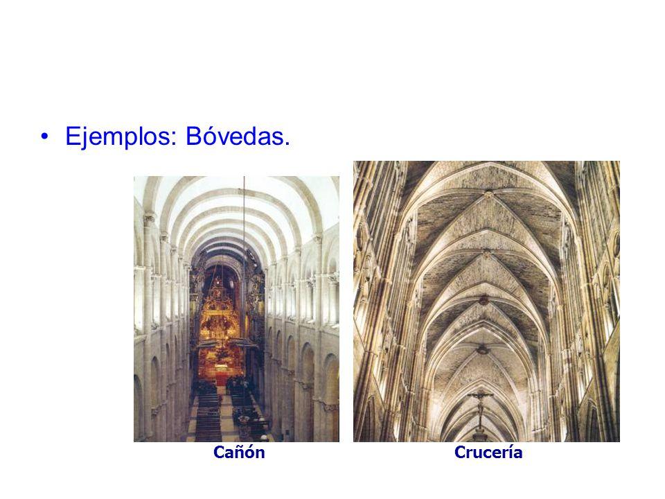 Ejemplos: Bóvedas. Cañón Crucería
