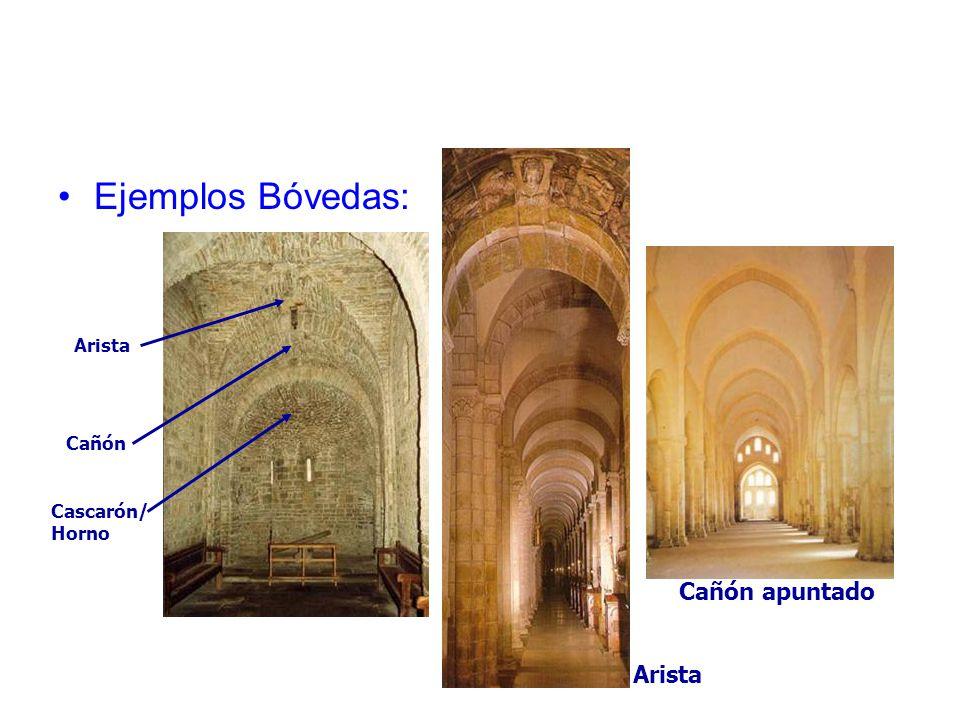 Ejemplos Bóvedas: Arista Cañón Cascarón/ Horno Cañón apuntado Arista