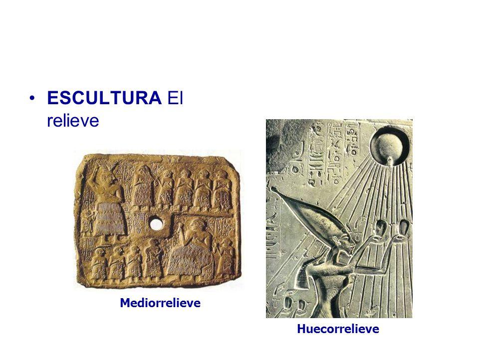 ESCULTURA El relieve Mediorrelieve Huecorrelieve
