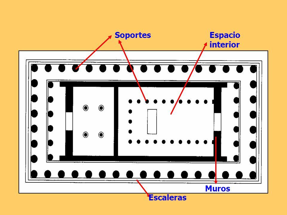 Soportes Espacio interior Muros Escaleras
