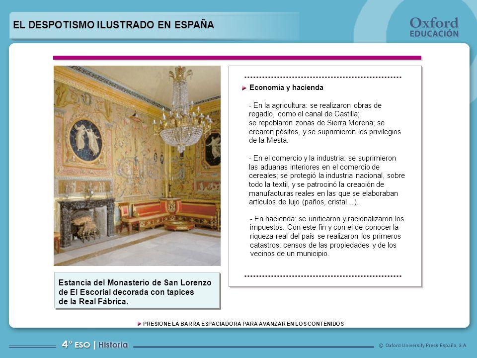 EL DESPOTISMO ILUSTRADO EN ESPAÑA