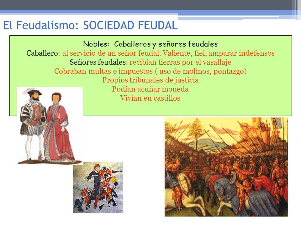 El Feudalismo: SOCIEDAD FEUDAL