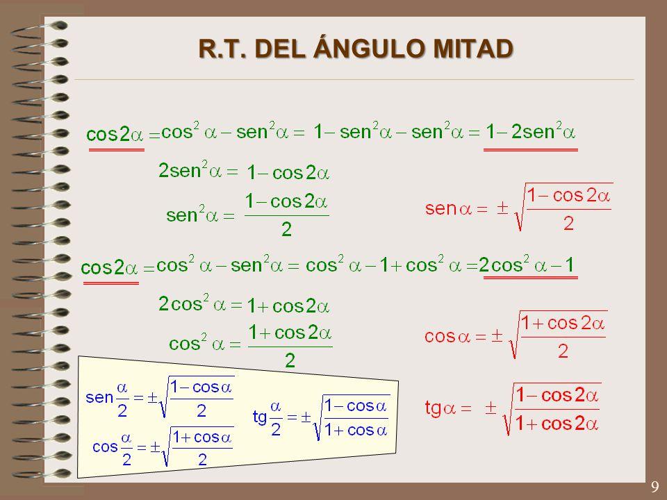 R.T. DEL ÁNGULO MITAD