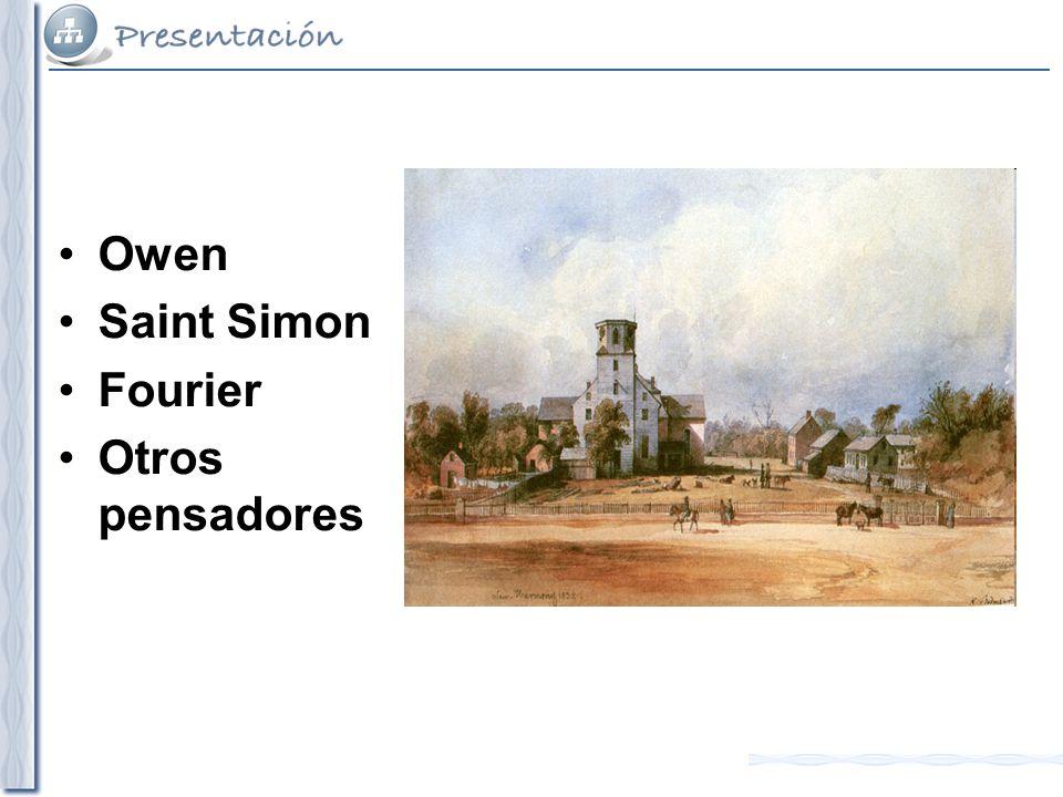 Owen Saint Simon Fourier Otros pensadores