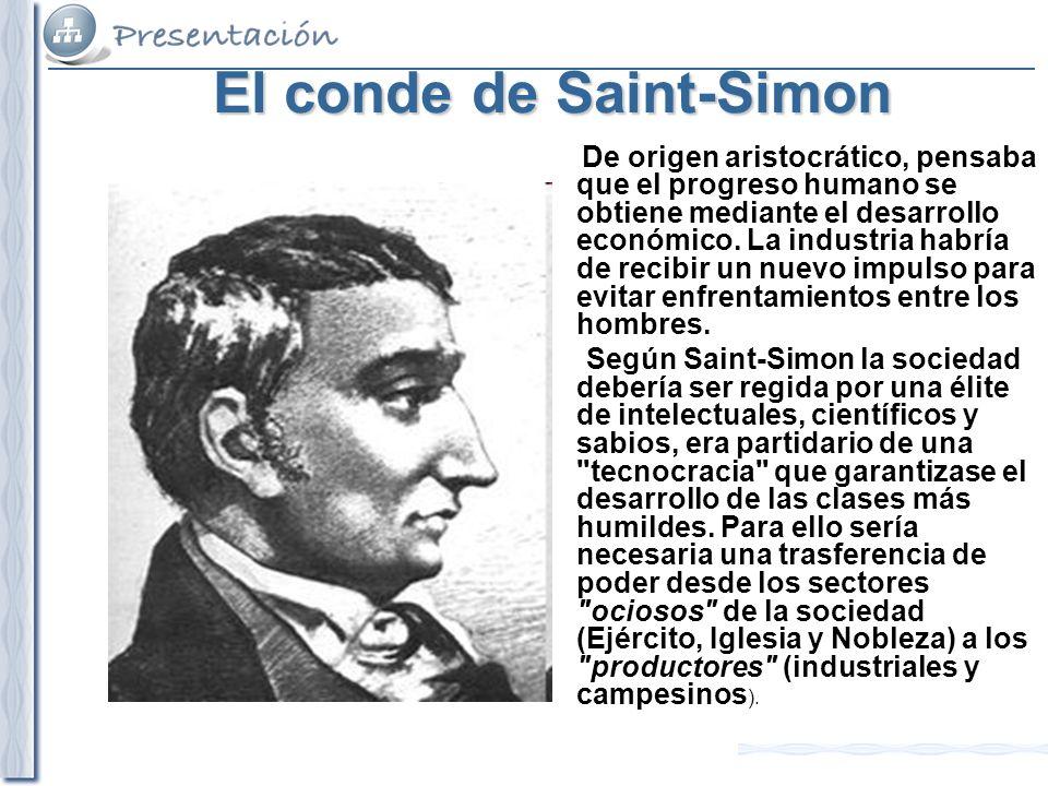 El conde de Saint-Simon