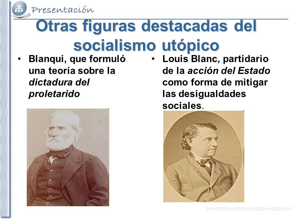 Otras figuras destacadas del socialismo utópico