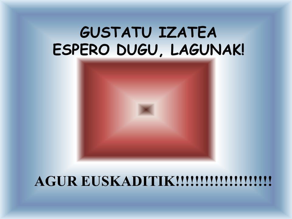 GUSTATU IZATEA ESPERO DUGU, LAGUNAK!