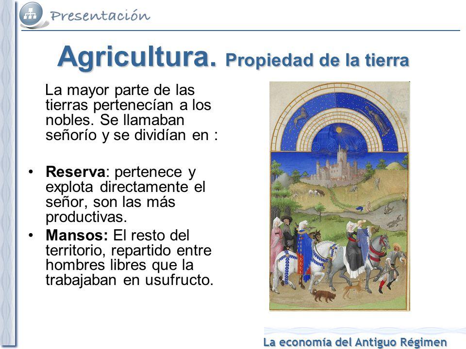 Agricultura. Propiedad de la tierra