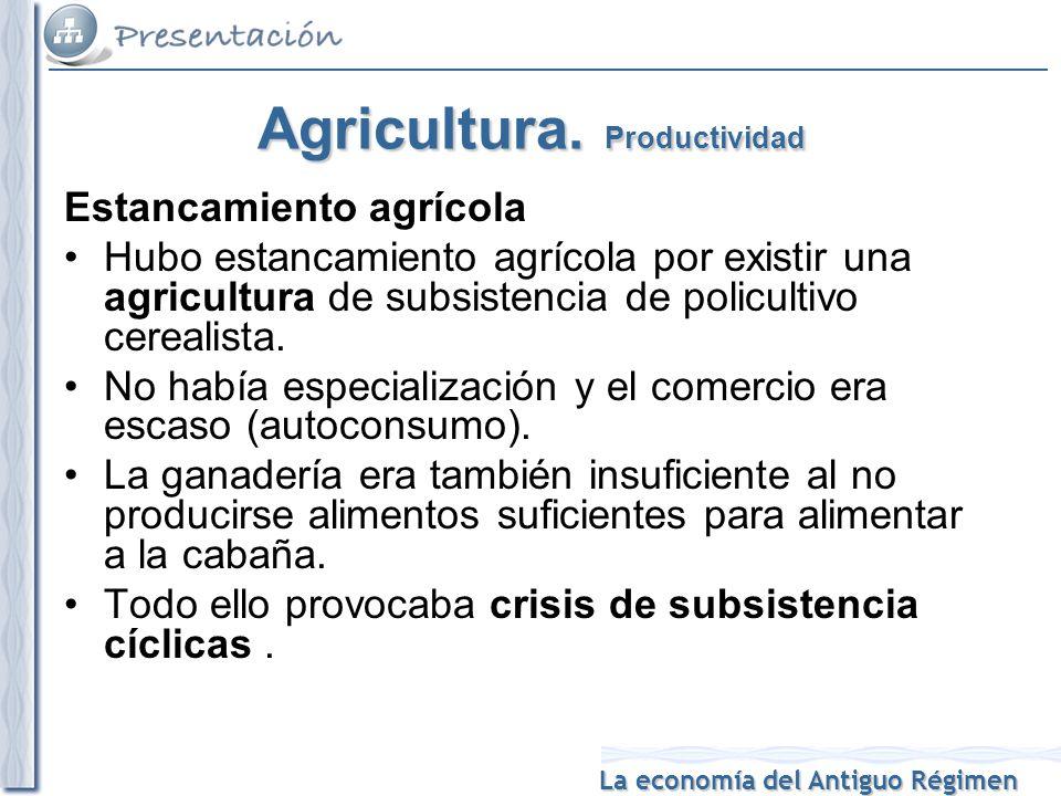 Agricultura. Productividad