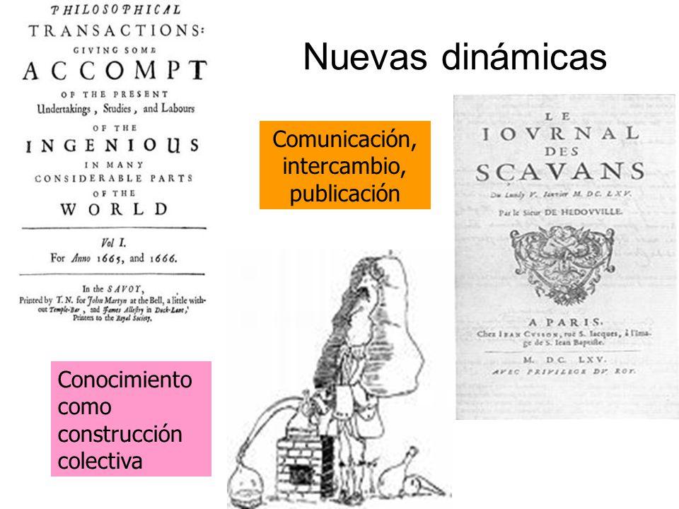 Comunicación, intercambio, publicación