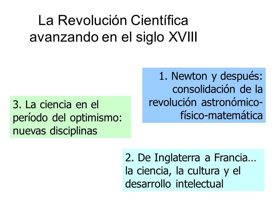 La Revolución Científica avanzando en el siglo XVIII