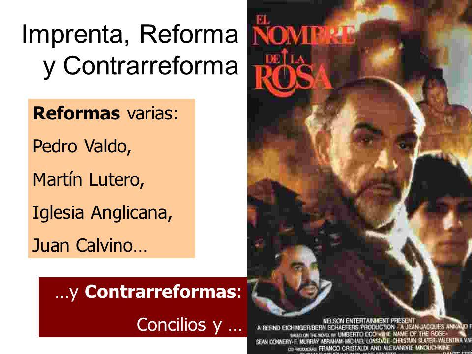 Imprenta, Reforma y Contrarreforma