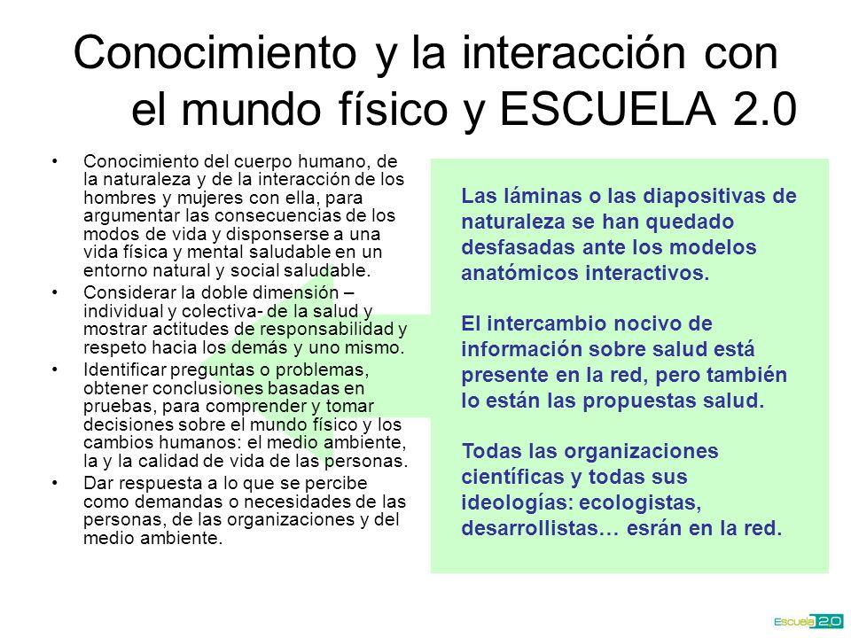 Conocimiento y la interacción con el mundo físico y ESCUELA 2.0