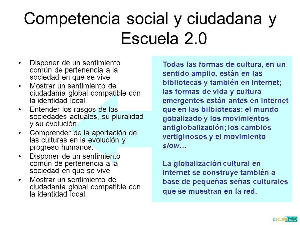 Competencia social y ciudadana y Escuela 2.0