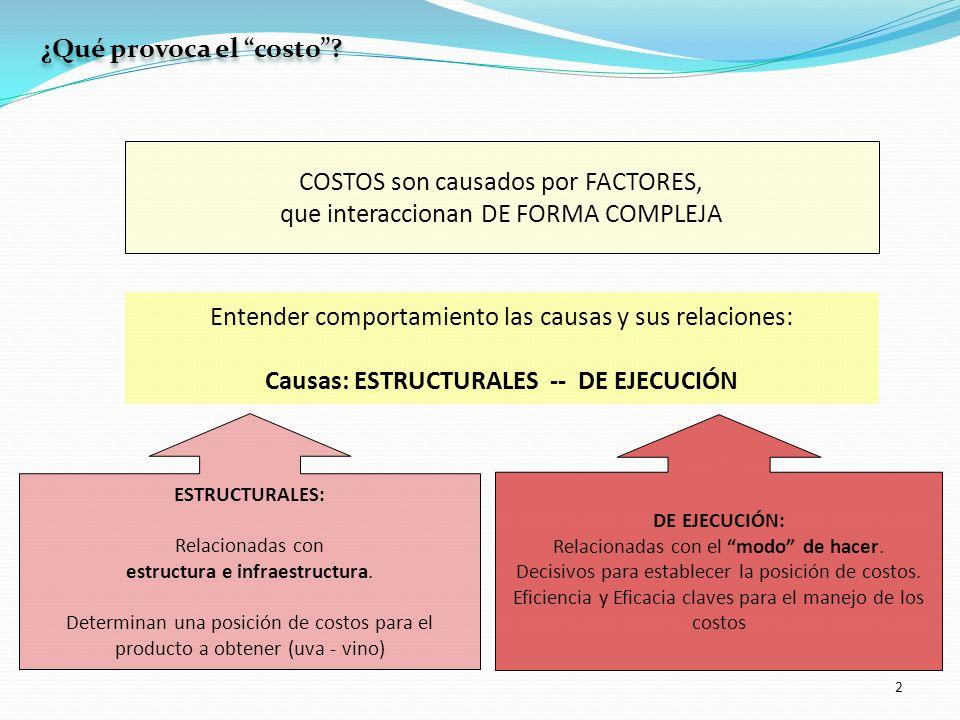Causas: ESTRUCTURALES -- DE EJECUCIÓN