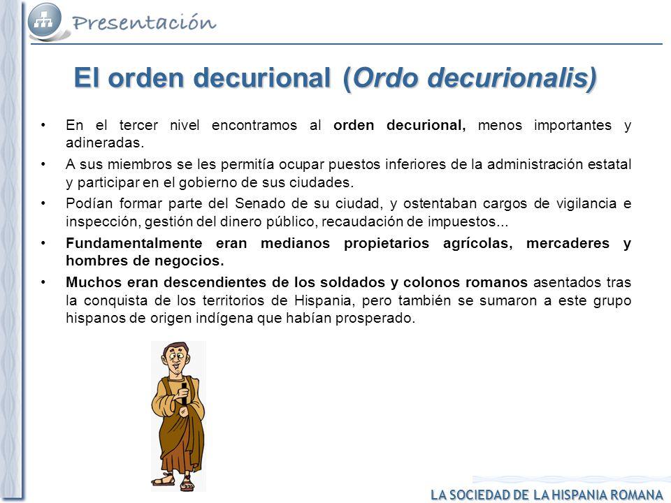 El orden decurional (Ordo decurionalis)