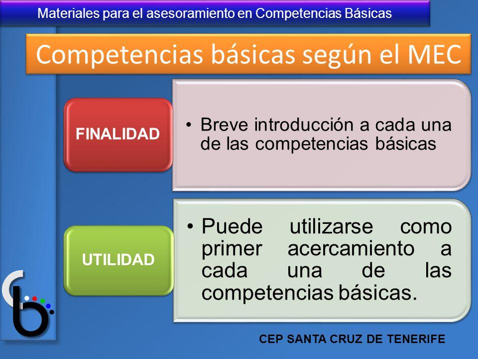 Competencias básicas según el MEC