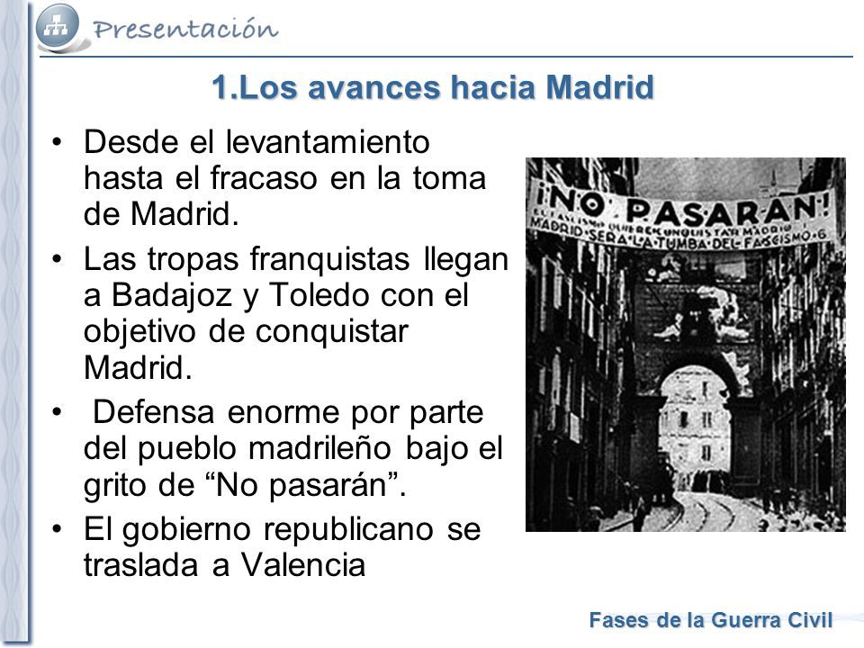 1.Los avances hacia Madrid