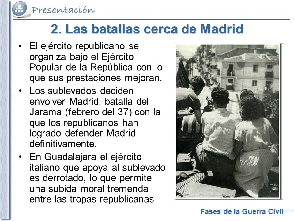 2. Las batallas cerca de Madrid