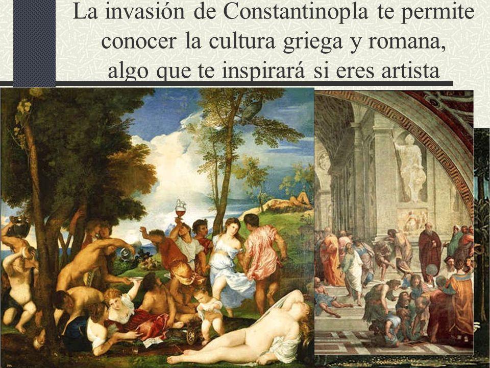 La invasión de Constantinopla te permite conocer la cultura griega y romana, algo que te inspirará si eres artista