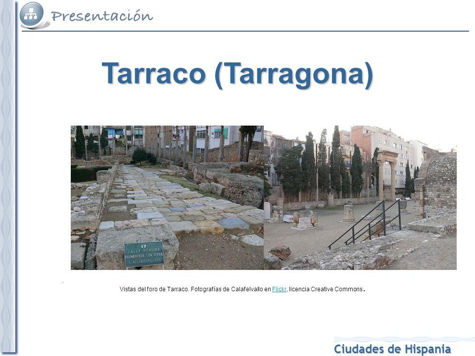 Tarraco (Tarragona) . Vistas del foro de Tarraco.