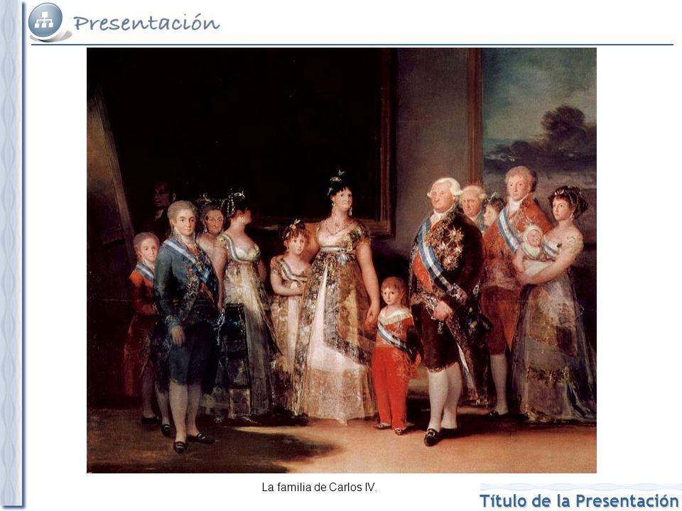 La familia de Carlos IV.