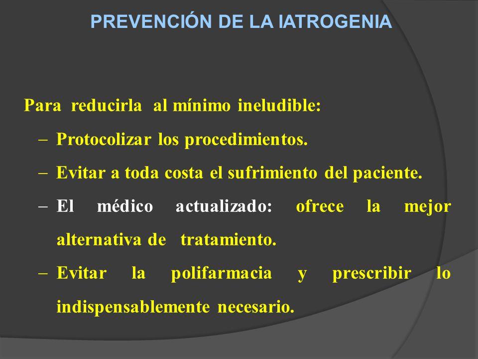 PREVENCIÓN DE LA IATROGENIA
