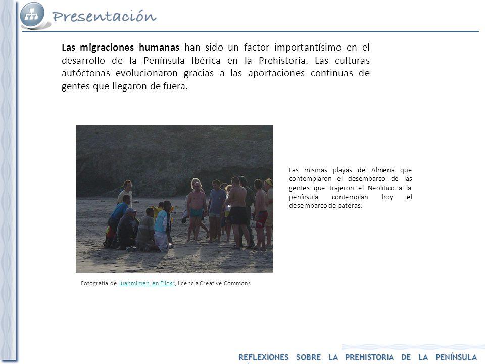 Las migraciones humanas han sido un factor importantísimo en el desarrollo de la Península Ibérica en la Prehistoria. Las culturas autóctonas evolucionaron gracias a las aportaciones continuas de gentes que llegaron de fuera.