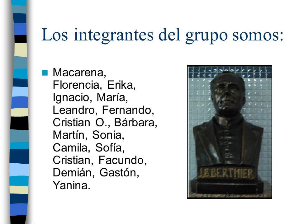 Los integrantes del grupo somos: