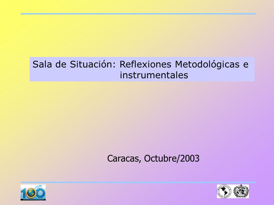 Sala de Situación: Reflexiones Metodológicas e