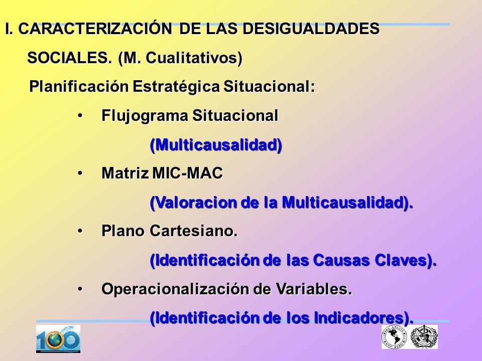 I. CARACTERIZACIÓN DE LAS DESIGUALDADES
