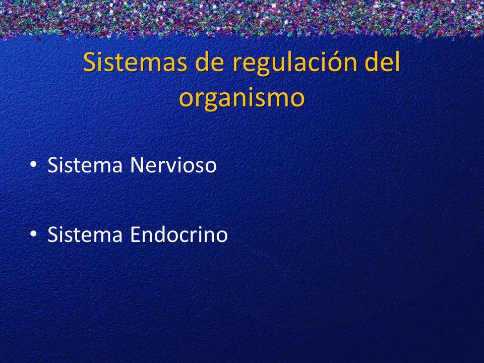 Sistemas de regulación del organismo