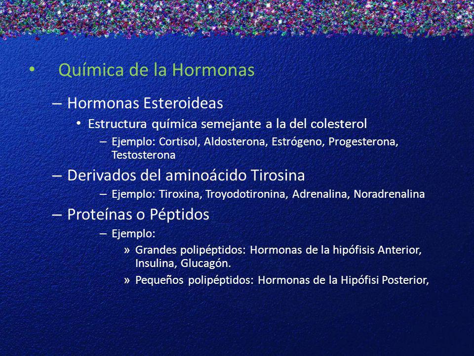 Química de la Hormonas Hormonas Esteroideas