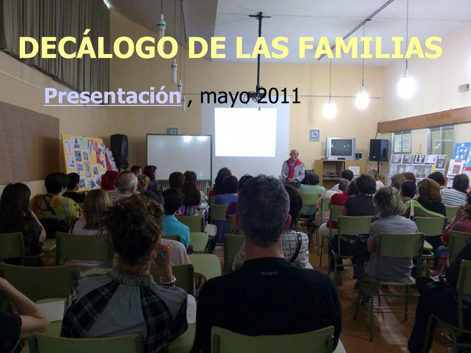 DECÁLOGO DE LAS FAMILIAS