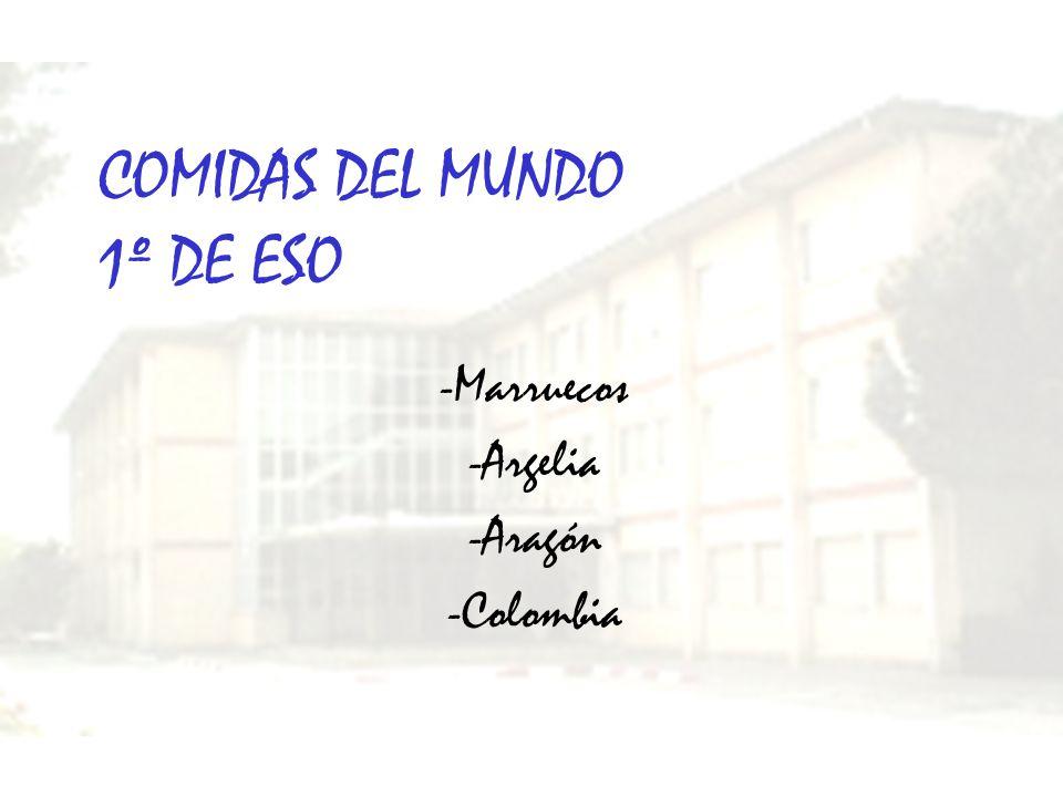 COMIDAS DEL MUNDO 1º DE ESO