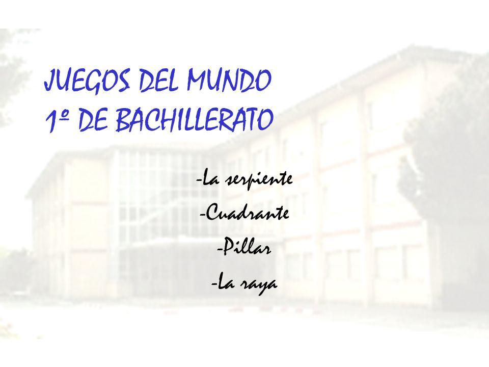 JUEGOS DEL MUNDO 1º DE BACHILLERATO