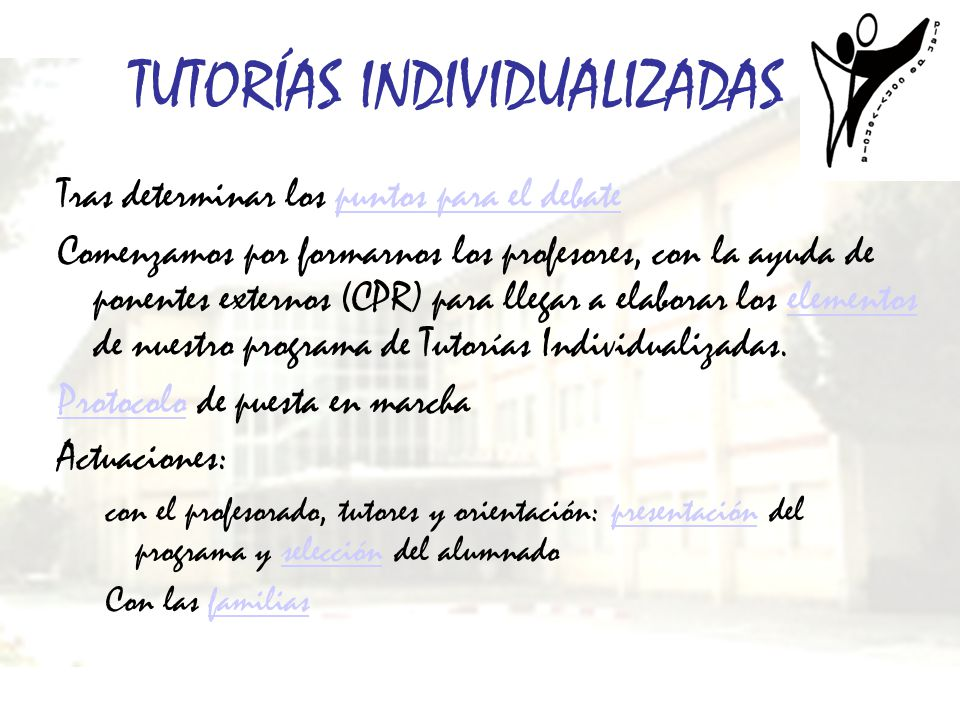 TUTORÍAS INDIVIDUALIZADAS