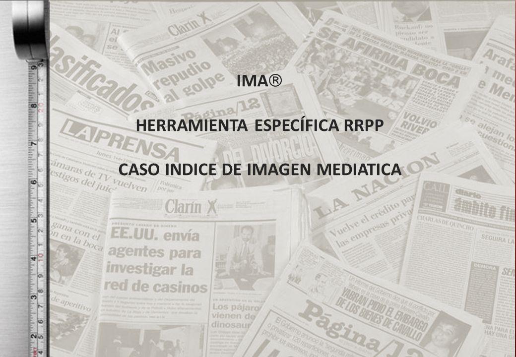 HERRAMIENTA ESPECÍFICA RRPP CASO INDICE DE IMAGEN MEDIATICA