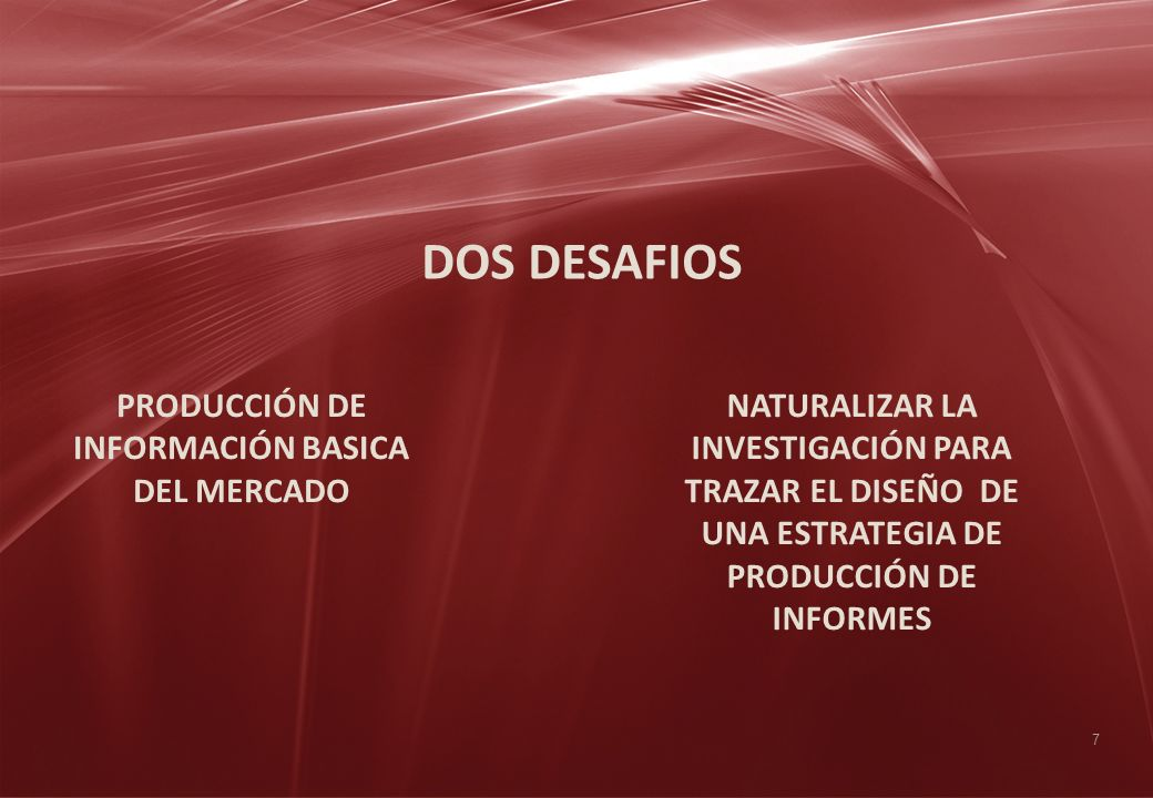 PRODUCCIÓN DE INFORMACIÓN BASICA DEL MERCADO